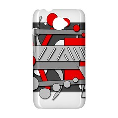 Gray and red geometrical design HTC Desire 601 Hardshell Case