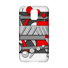 Gray and red geometrical design Samsung Galaxy S5 Hardshell Case