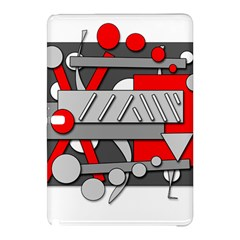 Gray and red geometrical design Samsung Galaxy Tab Pro 10.1 Hardshell Case