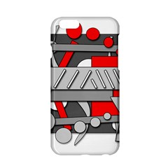 Gray and red geometrical design Apple iPhone 6/6S Hardshell Case
