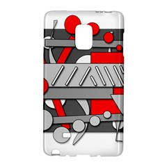 Gray and red geometrical design Galaxy Note Edge