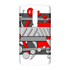 Gray and red geometrical design LG G3 Back Case