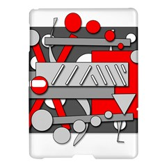 Gray and red geometrical design Samsung Galaxy Tab S (10.5 ) Hardshell Case
