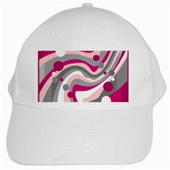 Magenta, pink and gray design White Cap