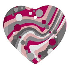 Magenta, pink and gray design Ornament (Heart)