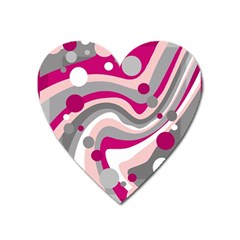 Magenta, pink and gray design Heart Magnet