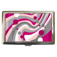 Magenta, pink and gray design Cigarette Money Cases