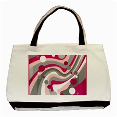 Magenta, pink and gray design Basic Tote Bag (Two Sides)