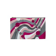 Magenta, pink and gray design Cosmetic Bag (Small)
