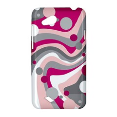 Magenta, pink and gray design HTC Desire VC (T328D) Hardshell Case