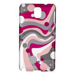 Magenta, pink and gray design Samsung Galaxy Note 3 N9005 Hardshell Case