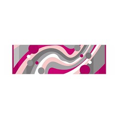 Magenta, pink and gray design Satin Scarf (Oblong)