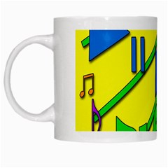 Music White Mugs