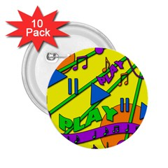 Music 2.25  Buttons (10 pack)