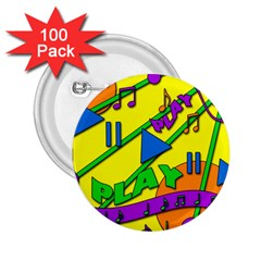 Music 2.25  Buttons (100 pack)