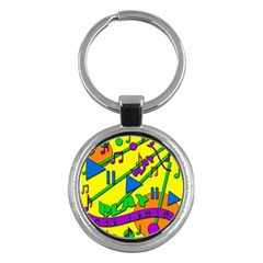 Music Key Chains (Round)