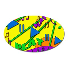 Music Oval Magnet