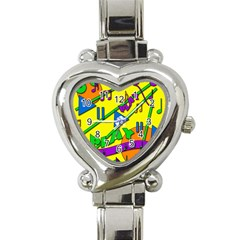 Music Heart Italian Charm Watch