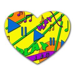 Music Heart Mousepads