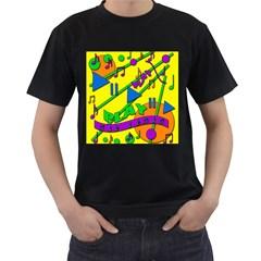 Music Men s T-Shirt (Black)