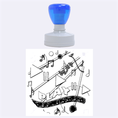 Music Rubber Round Stamps (Large)