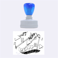Music Rubber Oval Stamps