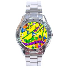 Music Stainless Steel Analogue Watch