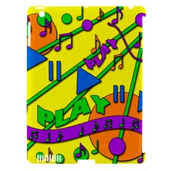 Music Apple iPad 3/4 Hardshell Case (Compatible with Smart Cover)