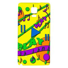 Music Galaxy Note 4 Back Case