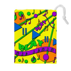 Music Drawstring Pouches (Extra Large)