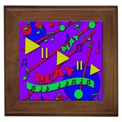 Music 2 Framed Tiles