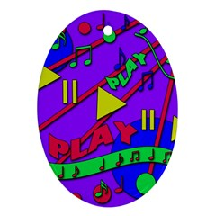 Music 2 Ornament (Oval)
