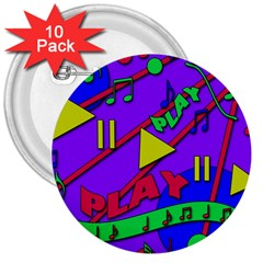 Music 2 3  Buttons (10 pack)