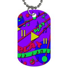 Music 2 Dog Tag (One Side)