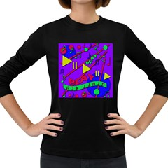 Music 2 Women s Long Sleeve Dark T-Shirts