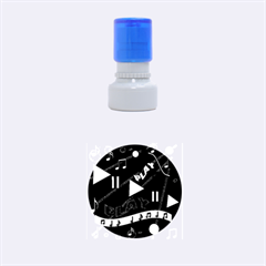 Music 2 Rubber Round Stamps (Small)