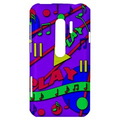 Music 2 HTC Evo 3D Hardshell Case