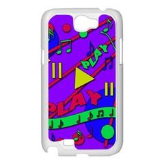 Music 2 Samsung Galaxy Note 2 Case (White)