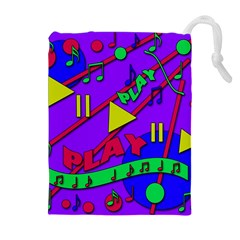 Music 2 Drawstring Pouches (Extra Large)