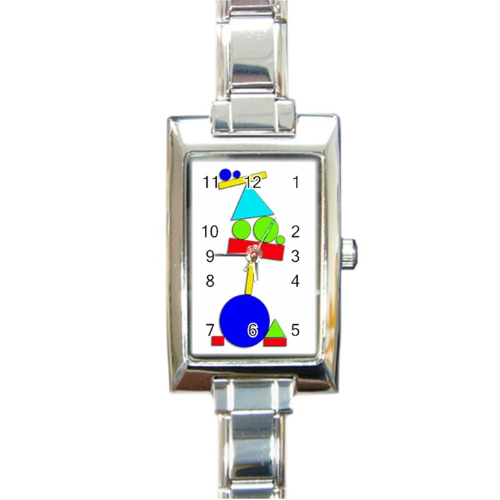Balance  Rectangle Italian Charm Watch