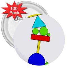 Balance  3  Buttons (100 pack)