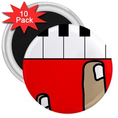 Piano  3  Magnets (10 pack)