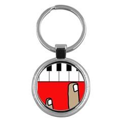 Piano  Key Chains (Round)