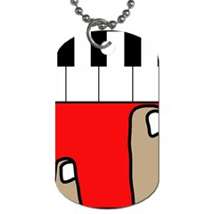 Piano  Dog Tag (Two Sides)