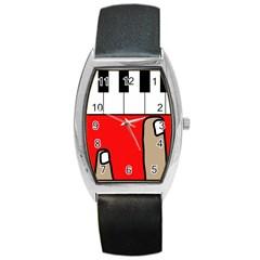 Piano  Barrel Style Metal Watch