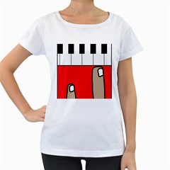 Piano  Women s Loose-Fit T-Shirt (White)