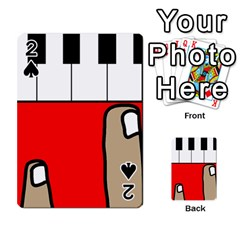 Piano  Playing Cards 54 Designs