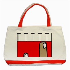 Piano  Classic Tote Bag (Red)
