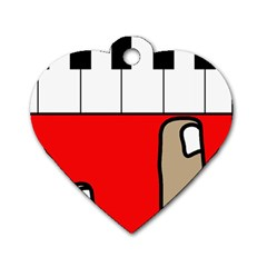 Piano  Dog Tag Heart (One Side)