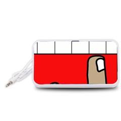 Piano  Portable Speaker (White)